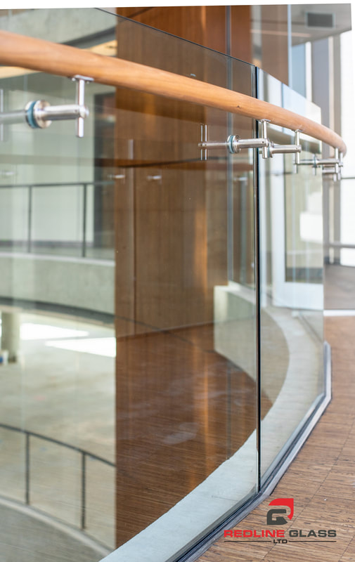 custom glass railing commercial 1515 douglas victoria bc redline
