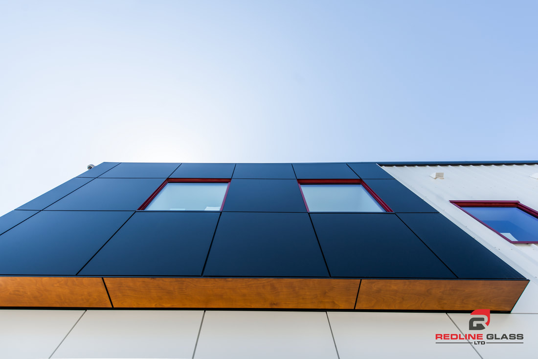 great white cladding exterior window product glass redline commerial
